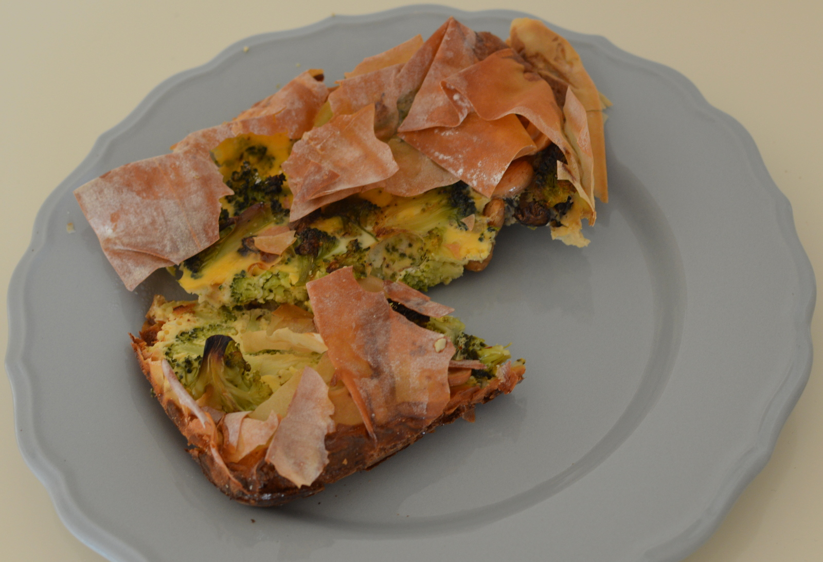 Oosterse quiche met broccoli
